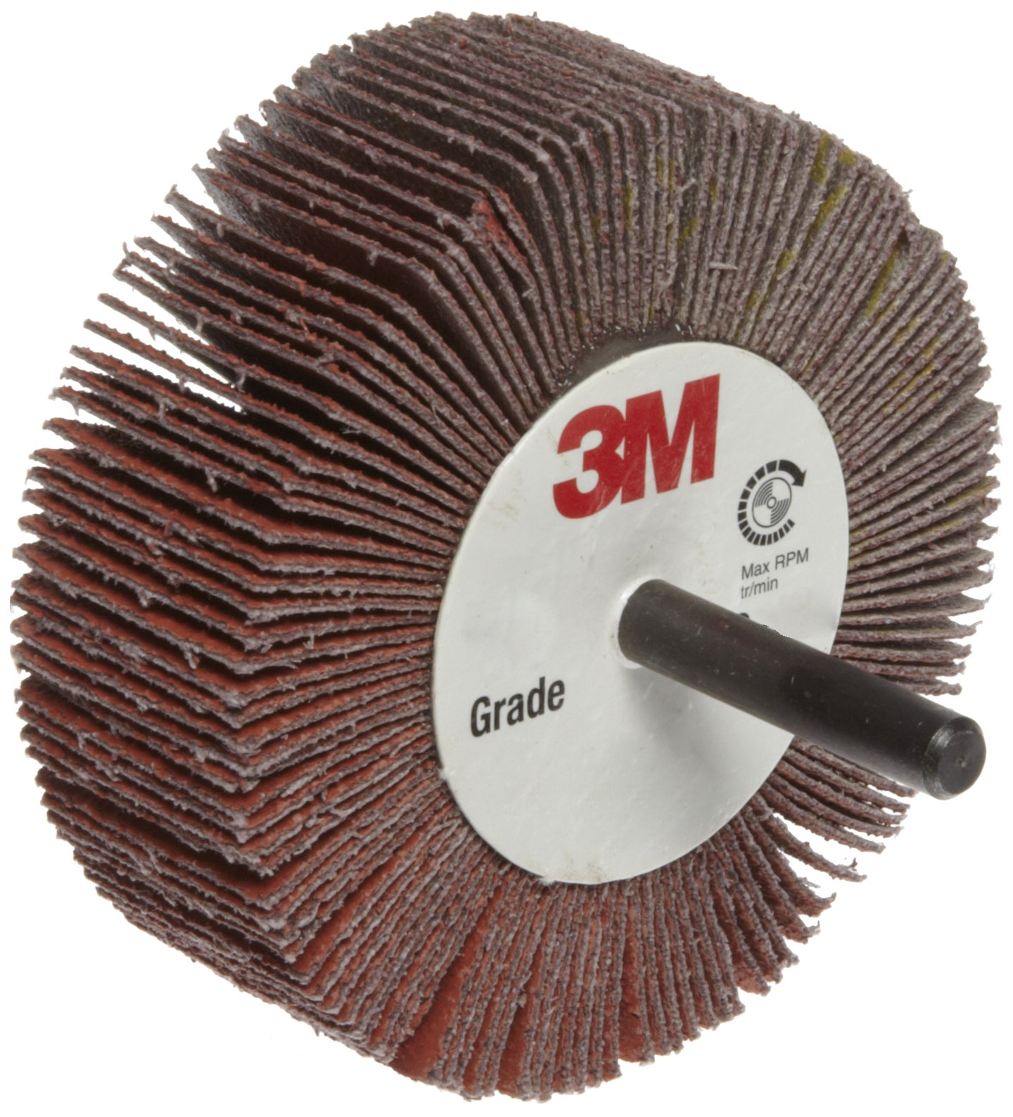 3M Flap Wheel Type 83 747D, Shaft Attachment, Ceramic Grain, 3'' Diameter, 1'' Width, 80 Grit, 20000 rpm  (Pack of 10)
