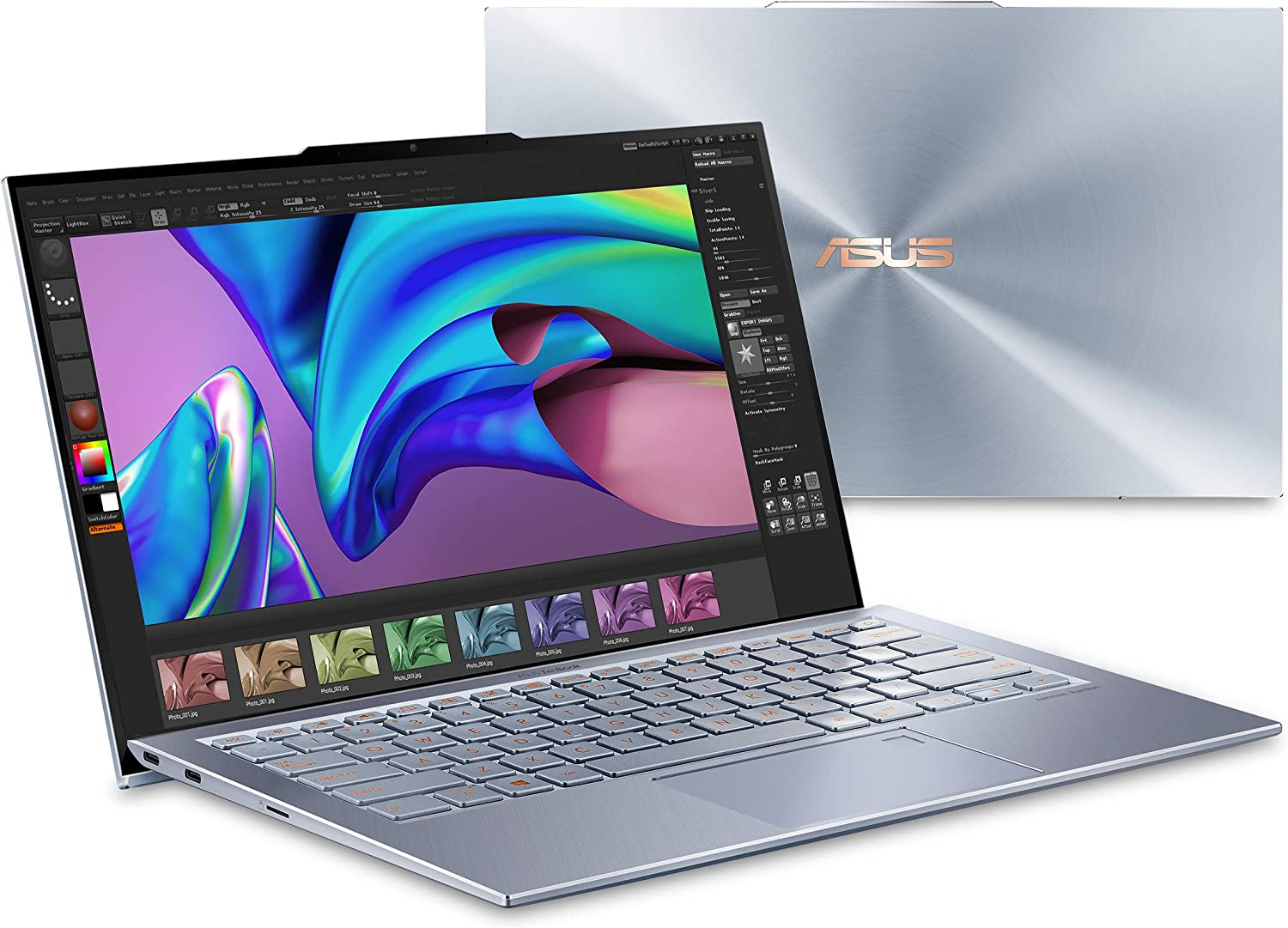 "Asus ZenBook S13 Ultra Thin & Light Laptop, 13.9"" FHD, Intel Core i7-8565U CPU, GeForce MX150, 16GB RAM, 512GB PCIe SSD, Windows 10 Pro, Silver Blue, UX392FN-XS77"