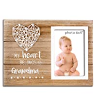 VILIGHT Promoted to Grandma Gifts Nana Picture Frame - Grandmother Grammy Present from Granddaughter and Grandson - 4x6 Inches Photo