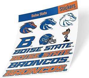 Boise State University NCAA Sticker Vinyl Decal Laptop Water Bottle Car Scrapbook (Type 2 Sheet)