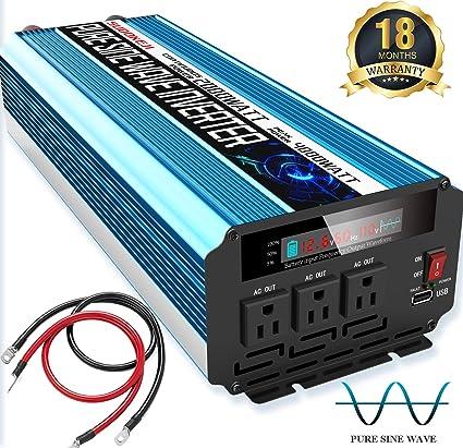 110V 120V AC Car Converter 4000W Peak Modified Sine Wave Power Inverter 12V DC