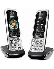 Gigaset C430HX Duo schnurlose Telefone (2 IP-Telefone Fritzbox kompatibel, VOIP DECT Telefone, klassisches Mobilteile mit TFT-Farbdisplay) schwarz-silber