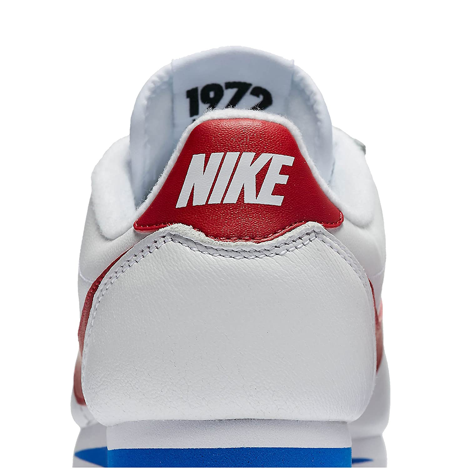 sneakers for cheap cec3d 19073 Nike Women s Classic Cortez Premium Shoe White Varsity Royal Varsity Red  (9.5)  Amazon.co.uk  Shoes   Bags