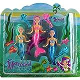 Set Of 3 Small Princess Mermaid Dolls - Girls Toy Gift