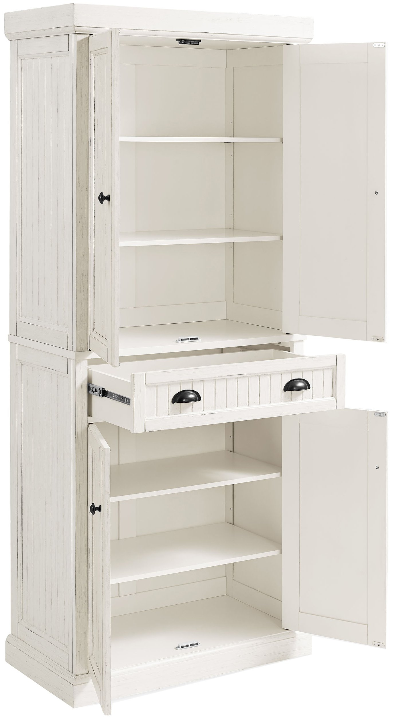 Crosley Furniture Seaside Kitchen Pantry Cabinet - Distressed White by Crosley Furniture (Image #3)