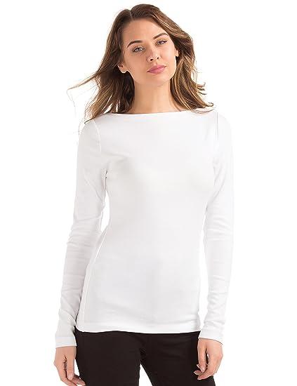 Buy Gap Women S Modern Long Sleeve Boatneck T Shirt 24190698300 Optic White Xxs At Amazon In