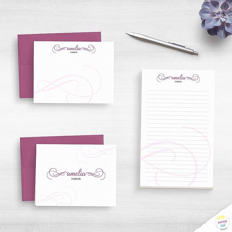 correspondence paper Personalised Stationery gift idea Elegant writing set luxury stationery Writing Set stationery lovers