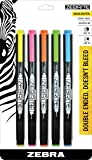 Zebra Eco Zebrite Double-Ended Highlighters, Assorted Colors, Chisel and Fine Point, 5-Pack-75005