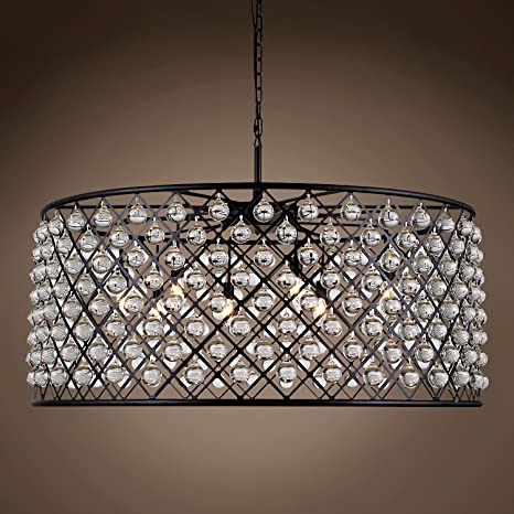 Spencer aro 10 luz lámpara de araña lámpara de techo ...