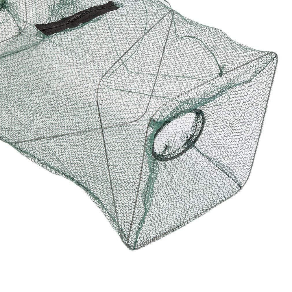 Sungpunet Portable Filet de Nylon Crawdad Pliable crevettes Minnow Cage Pêche Appât Piège à