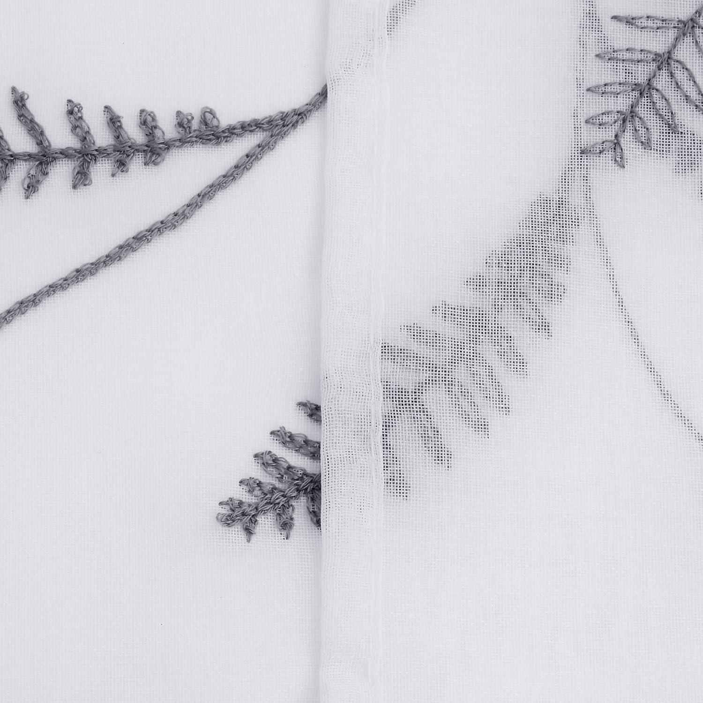 Deconovo Visillos Ventana Voile Decorativo Dise/ño Bonito Cortina Infantil Trasl/úcida para Sala de Estar Cocina 1 par 140 x 138 cm Blanco