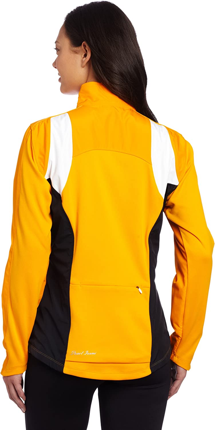PEARL IZUMI Womens Select Thermal Barrier Jacket Small Safety Orange