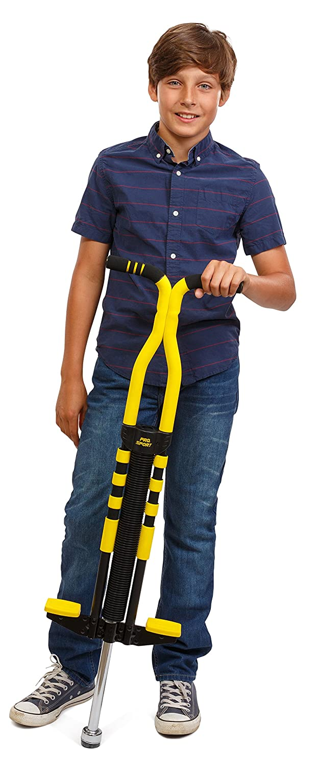 New Bounce Soft Easy Grip Pro Sport Pogo Stick for Ages 9 and up Black /& Yellow