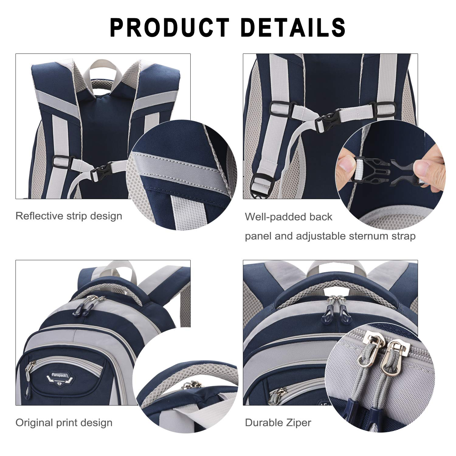 Fanspack School Bags for Boys 2019 New Casual Kids Backpack Satchel Backpack Bags for School Rucksacks