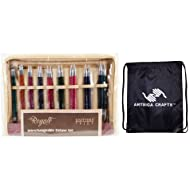 Knitter's Pride Royale Interchangeable Deluxe Long Tip Knitting Needle Set Deluxe Set (Normal IC) Bundle with 1 Artsiga Crafts Project Bag 220351
