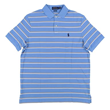 352bac7555 Polo Ralph Lauren Men s Classic Fit Pony Logo Striped Polo Shirt at ...