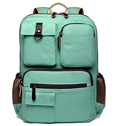8ae4e3d5c2 Amazon.com  School Backpack Vintage Canvas Laptop Backpacks Men Women  Rucksack Bookbags