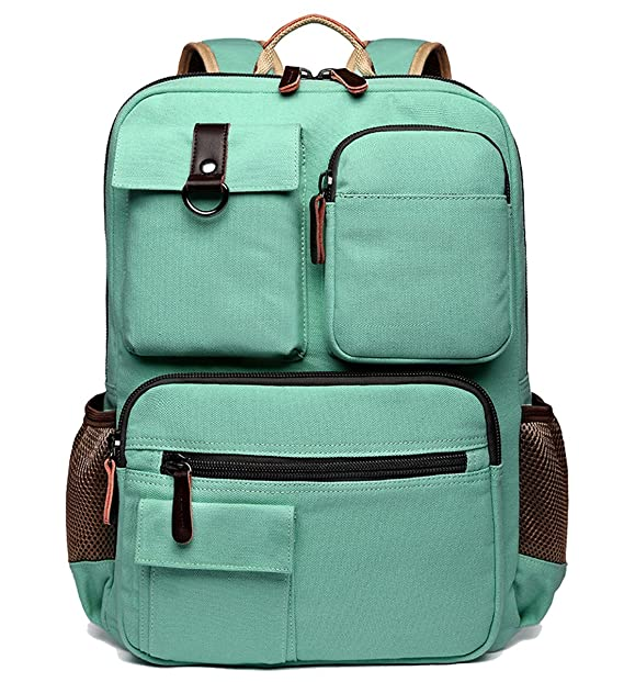 School Backpack Vintage Canvas Laptop Backpacks Men Women Rucksack Bookbags 4370f5967