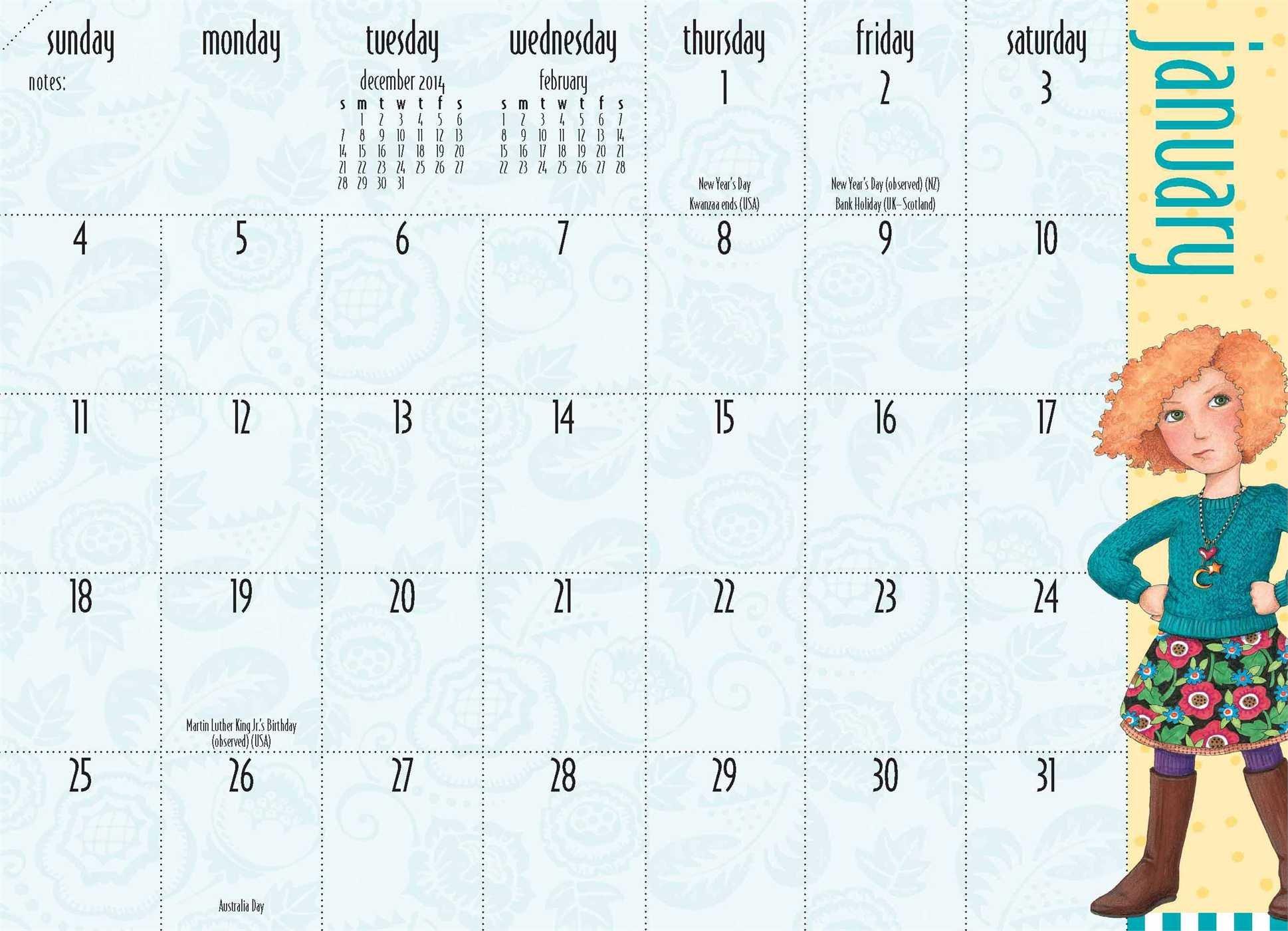 mary engelbreit 2015 monthly pocket planner calendar get a move on