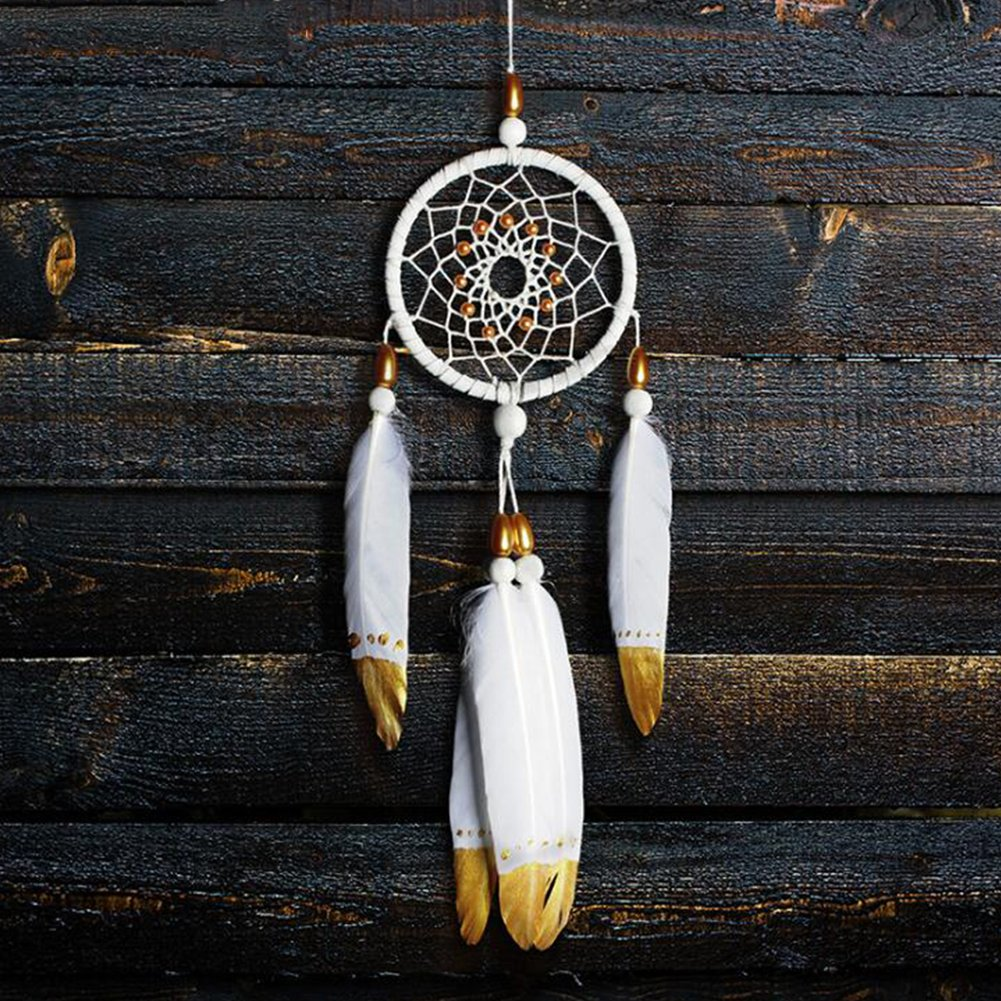 Dream Catcher with Feather Handmade Net Gift for Wall and Car Decoration INJOYS