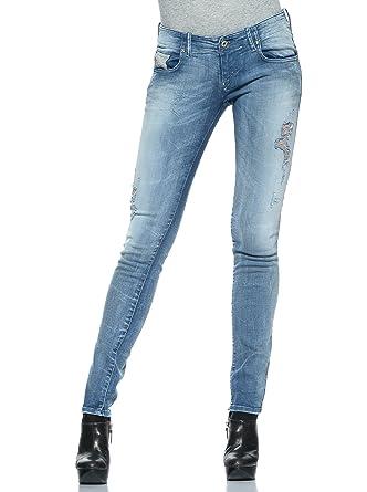 57d5f31e Diesel Womens Stretch Jeans Grupee 0808G Superslim Skinny Light Blue (24/32)