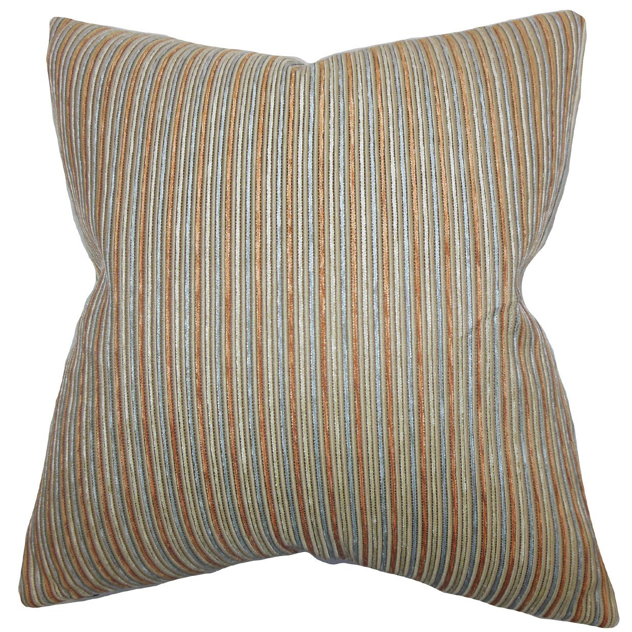 The Pillow Collection Elke Stripes Bedding Sham Brown King/20' x 36'