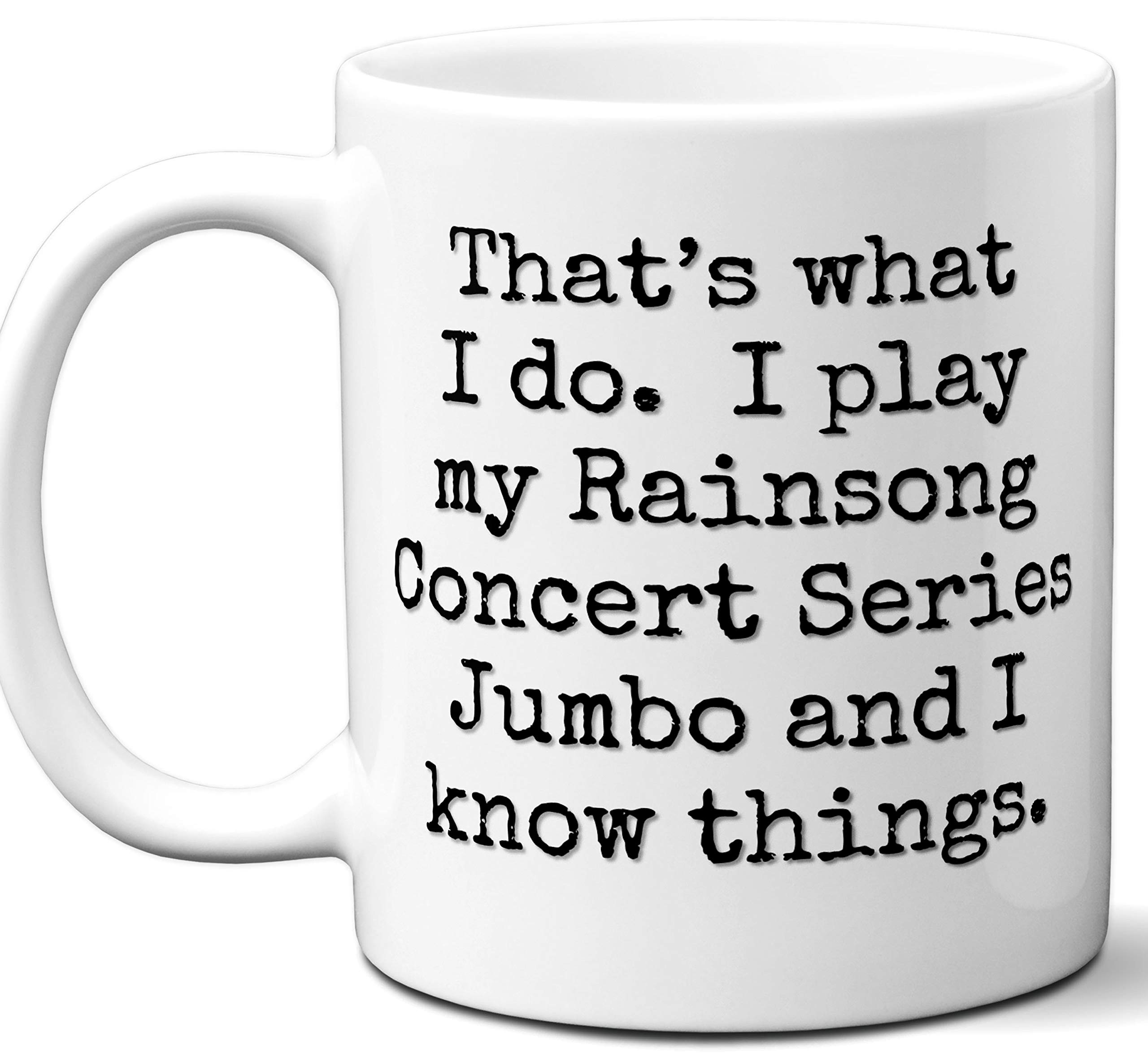 Guitar Gifts Mug. Rainsong Concert Series Jumbo Guitar Players Lover Accessories Music Teacher Lover Him Her Funny Dad Men Women Card Pick Musician Acoustic Unique by Ombura