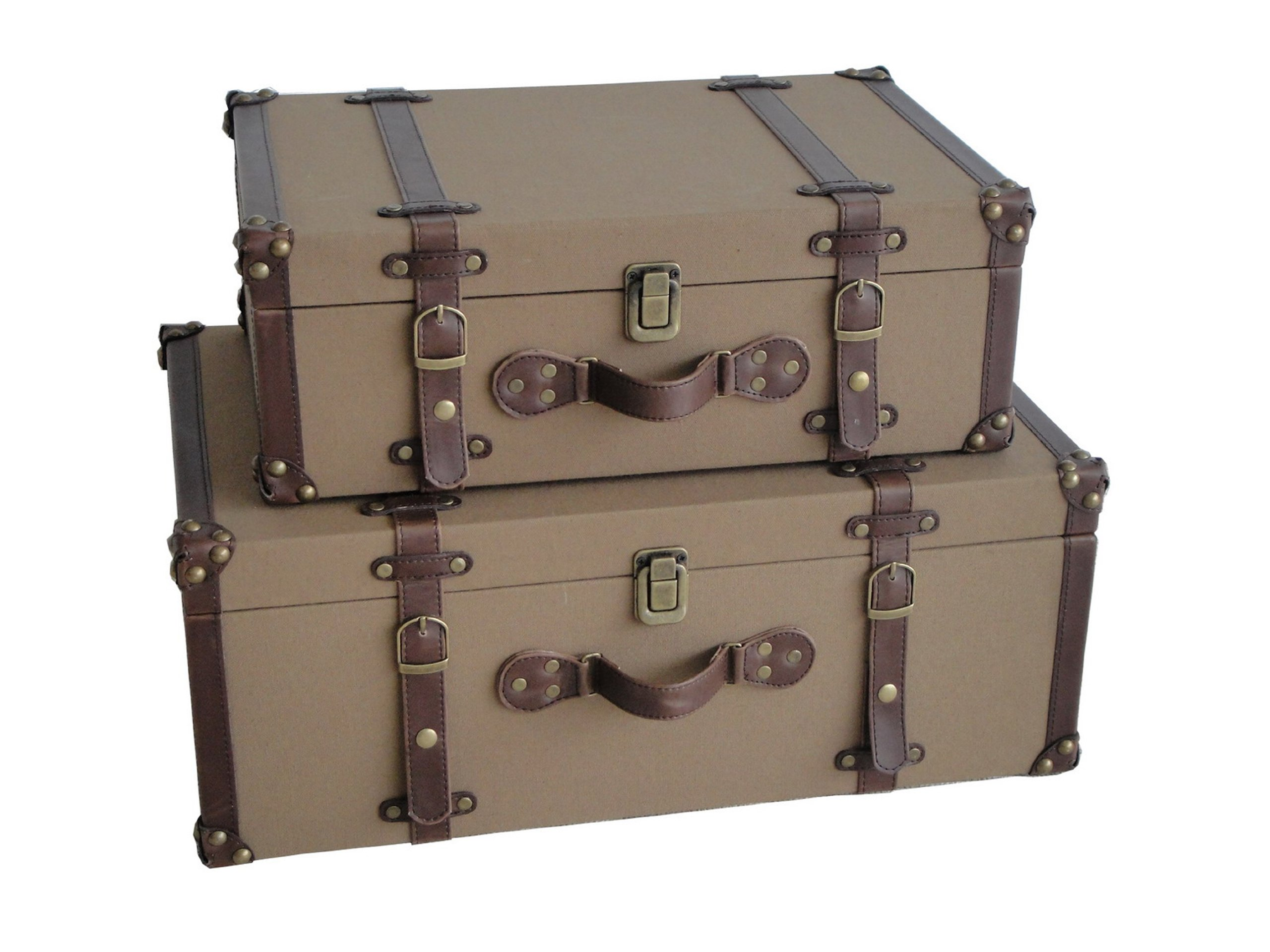 Screen Gems Valencia Canvas Suitcases by Screen Gems