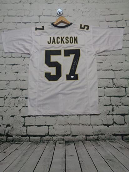 6205bbc3f Image Unavailable. Image not available for. Color  RICKY JACKSON  autographed signed white pro style Jersey ...