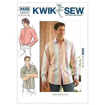 Amazon.com: Kwik Sew K3422 Shirts Sewing Pattern, Size S-M-L-XL-XXL ...
