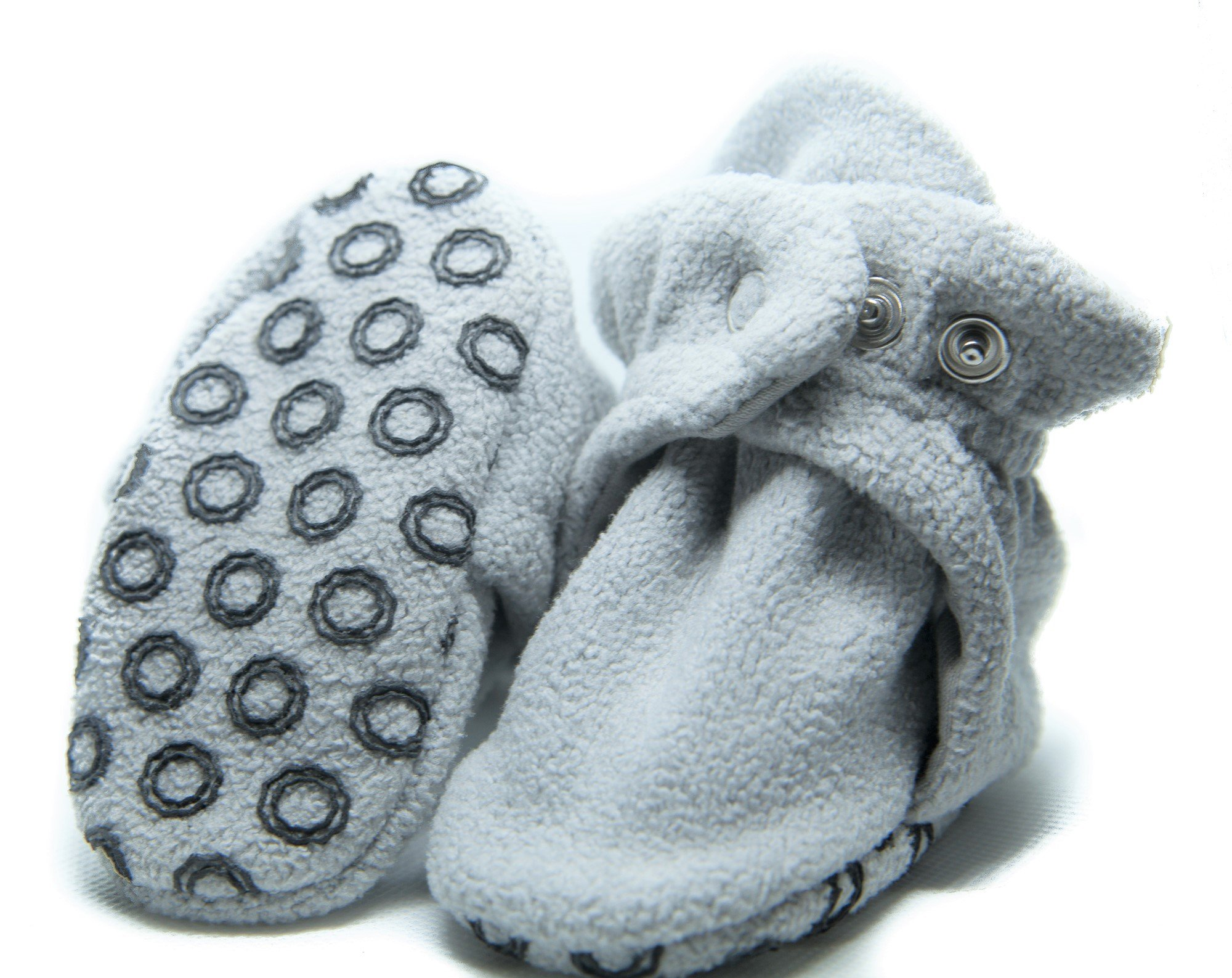 Oui Baby Oui Baby Booties with Anti Skid Grippers - Organic Cotton and Fleece