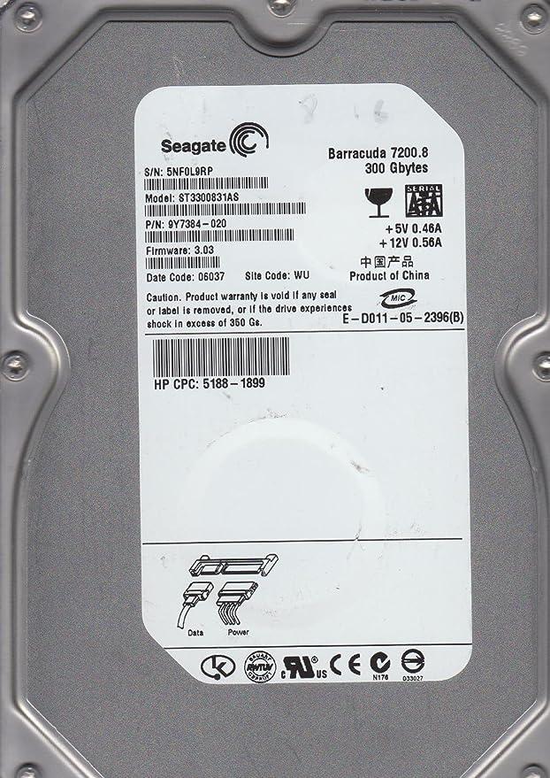 St3300831as, 3nf, amk, pn 9y7384-501, fw 3. 01, seagate 300gb sata.