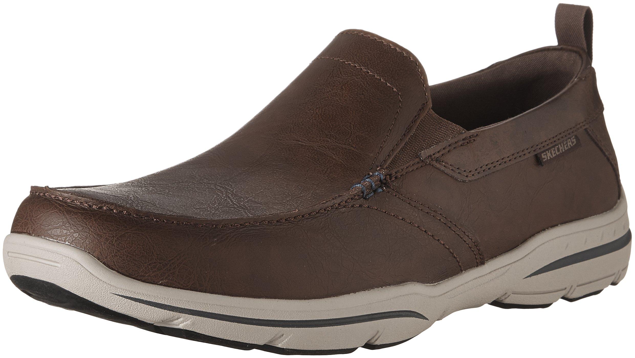 Skechers Men's Harper-Forde Driving Style Loafer, Chocolate, 9.5 Medium US