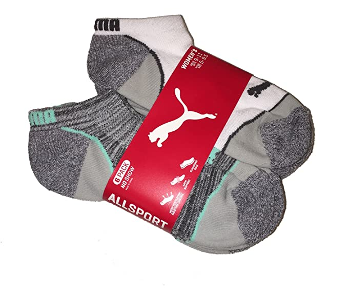 8372dacd2ea Image Unavailable. Image not available for. Color  Puma Womens No Show 6  Pack Socks