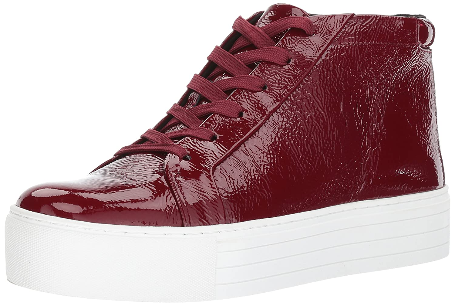 Kenneth Cole New York Women's Janette Platform High Top Lace up Platform Janette Patent Fashion Sneaker B071XNT527 9.5 B(M) US|Wine 2ae5ff