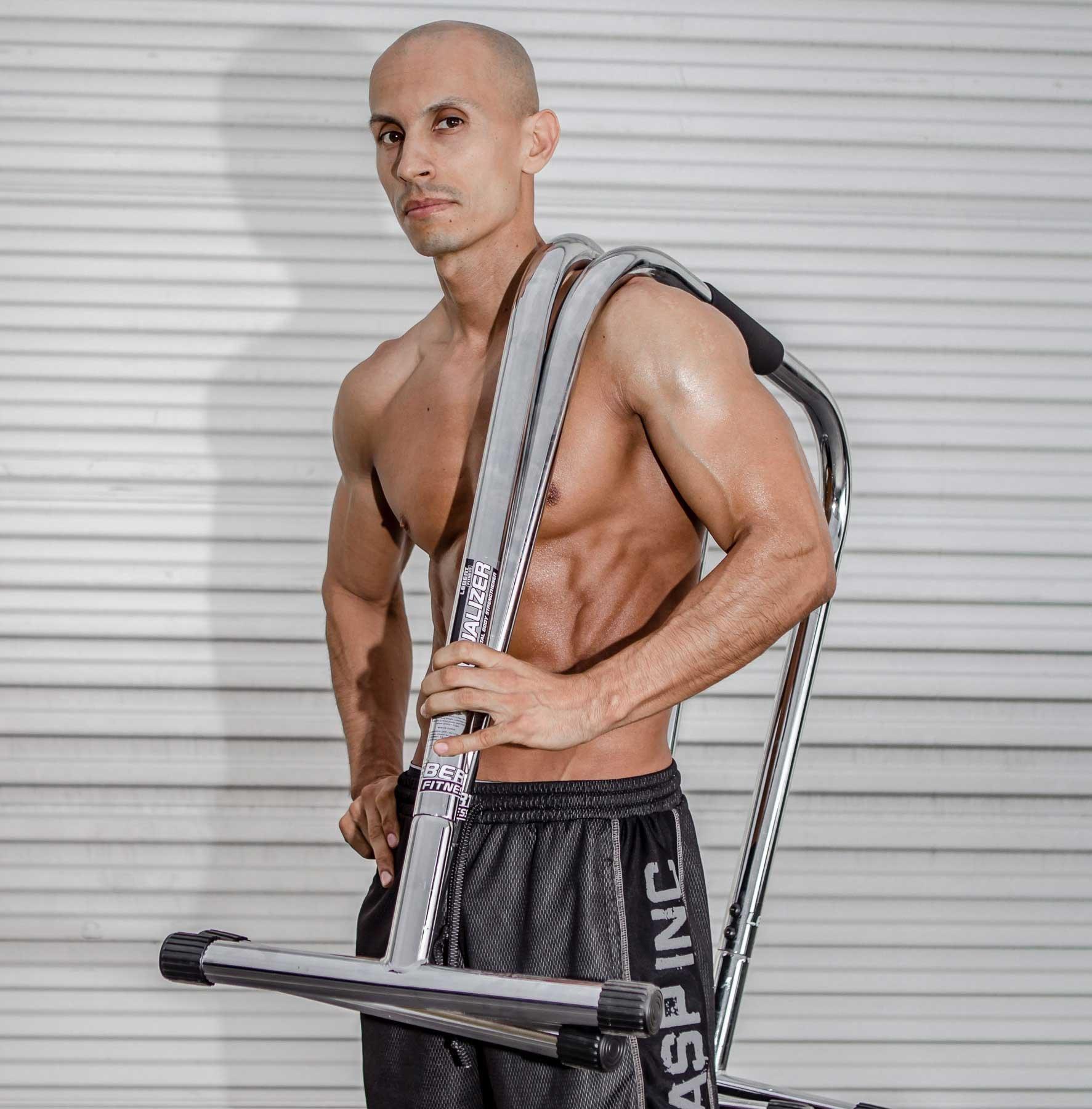 Lebert Fitness Equalizer Bars Total Body Strengthener, XL, Frank Medrano Signature, Chrome by Lebert (Image #2)