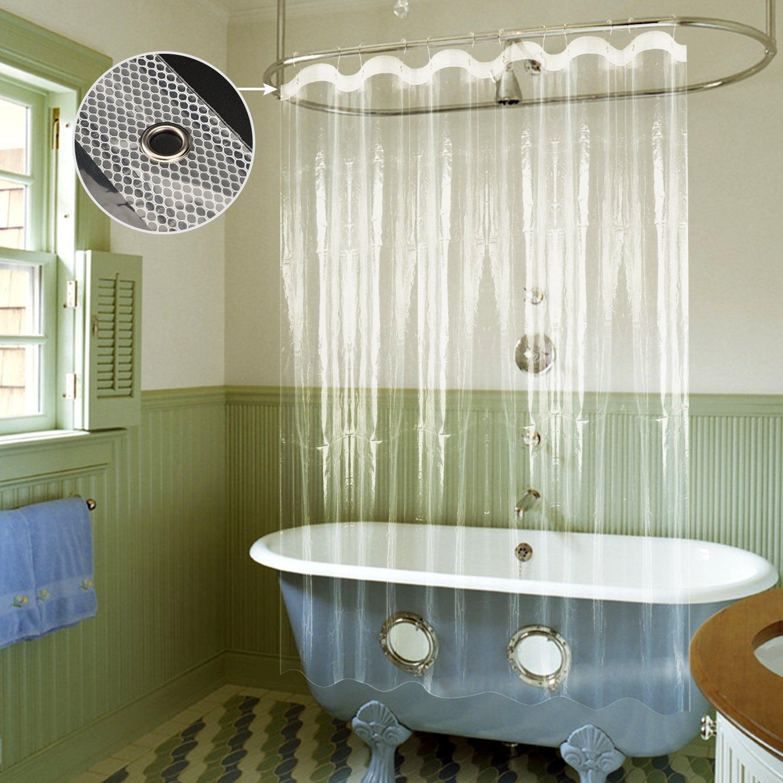 Amazoncom Shower Curtain Liner, Mold&Mildew Resistant Waterproof Anti Bacterial 72X72 Inch