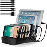 NEXGADGET USB Charging Station Dock for Multiple Devices, 8-Port Desktop Charger,Charging Stand Organizer for Smart…