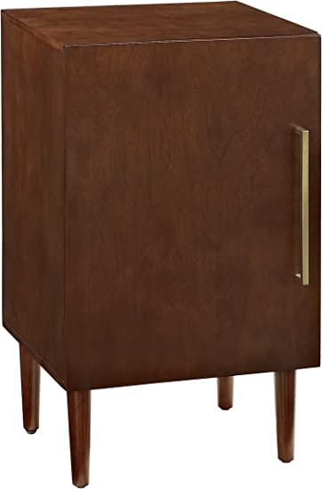 Crosley Furniture Everett Mid-Century Modern Record Player Stand, Mahogany