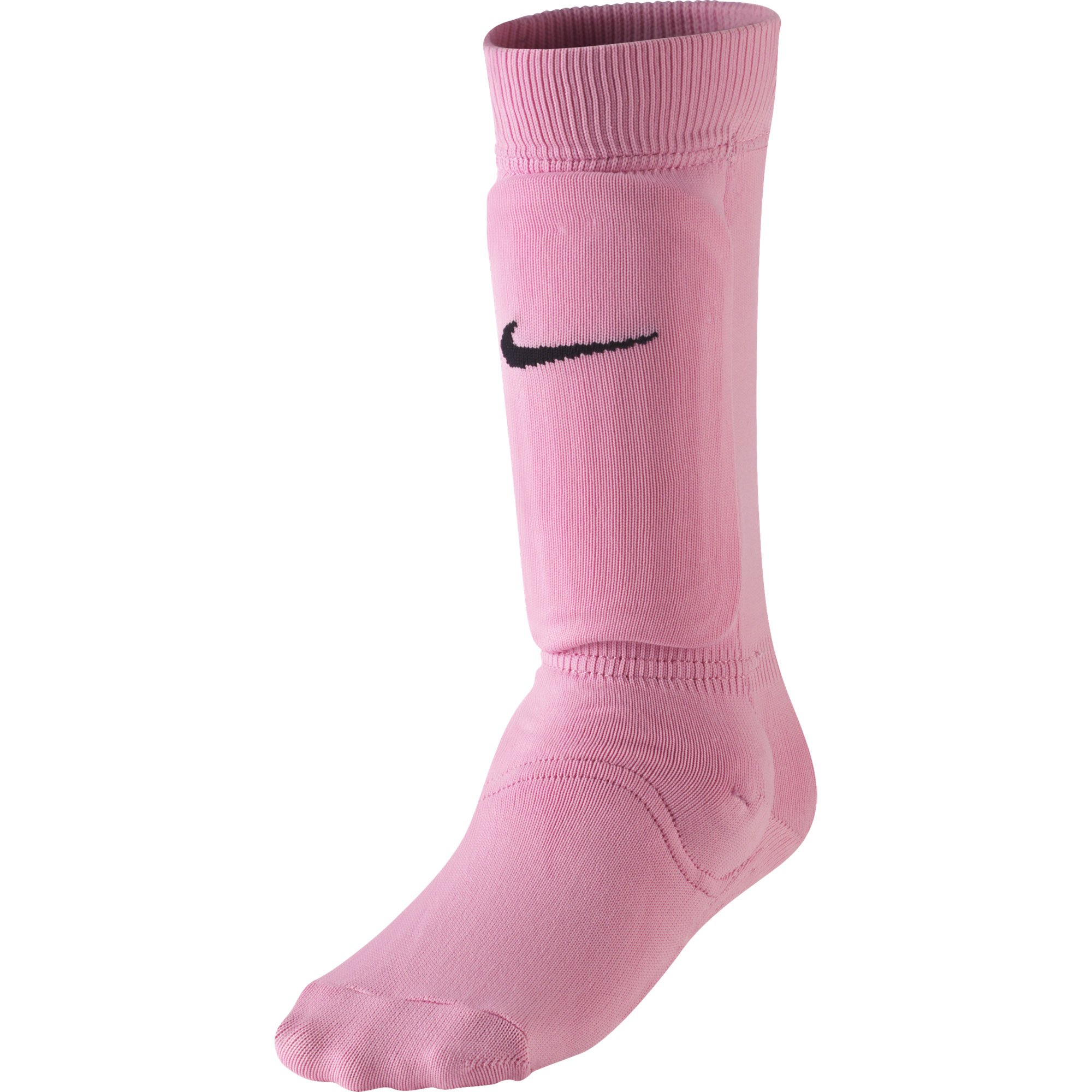 NIKE Kids' Unisex Shin Sock Sleeve, Pink Blast/Black, Large/X-Large by NIKE