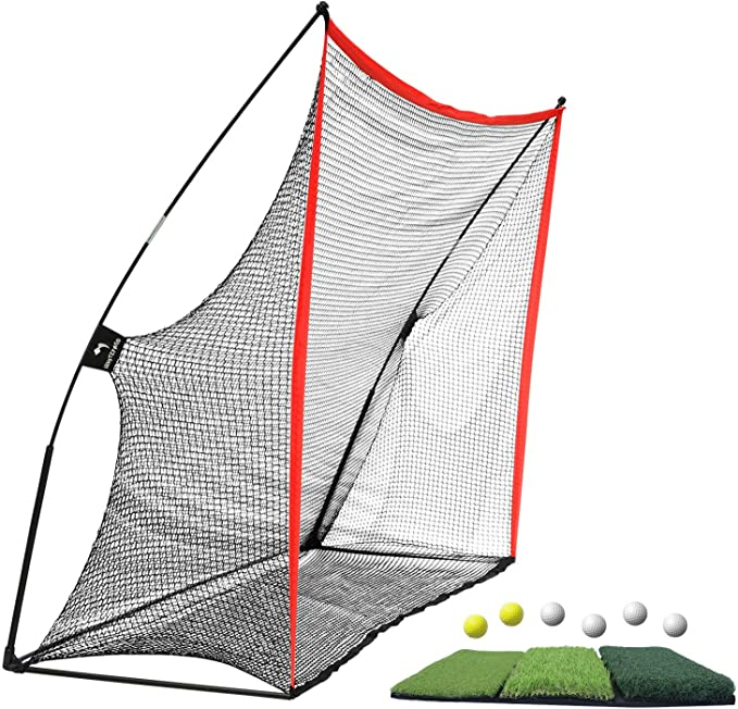 Amazon.com : WhiteFang Golf Net Bundle Golf Practice Net 10x7 feet with Golf Chipping Nets Golf Hitting Mat &Golf Balls Packed in Carry Bag for Backyard Driving Indoor Outdoor (Golf Net 3-in-1) : Sports & Outdoors