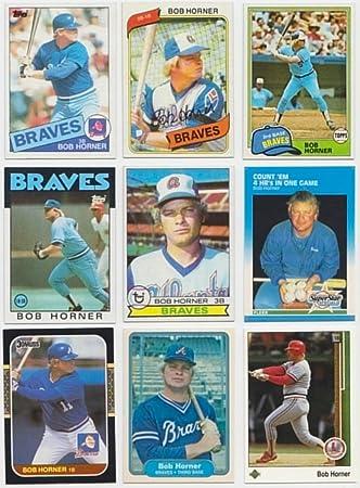 Bob Horner 25 Different Baseball Cards Featuring Bob