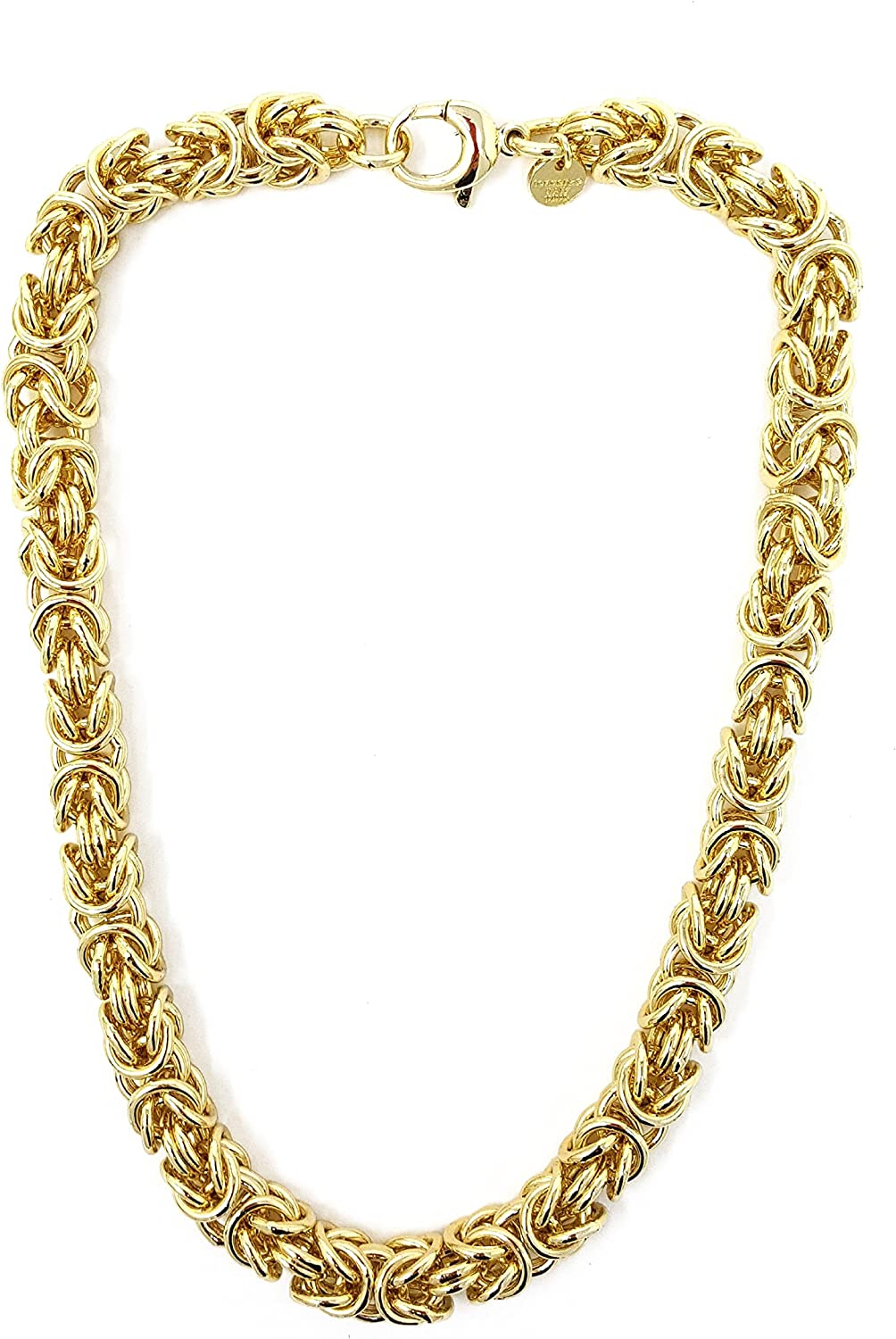 King/'s Chain  King/'s Bracelet Rolled Gold Rose Gold Doubl/é Necklace Pendant Chain Anklet Gold Chain Mens Chain Womens Gift Jewellery from Tendenze Factory Italy