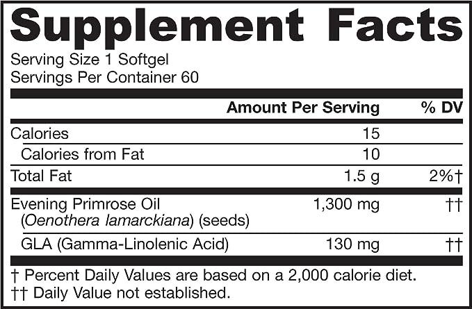Onagra, 1300 mg, 60 cápsulas blandas - Jarrow Formulas: Amazon.es: Salud y cuidado personal