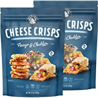 John Wm Macy's Cheese Crisps - Cheddar Cheese & Asiago Crackers | Sourdough CheeseCrisps Crackers Made with Real Aged Cheese | Entertainment Crackers & Gourmet Savory Snacks