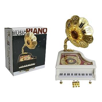 Schöne Retro Spieluhr Grammophone Grammofon Musik Melodie Spieldose Schallplatte Modern (ab 1970) Spieluhren & -dosen