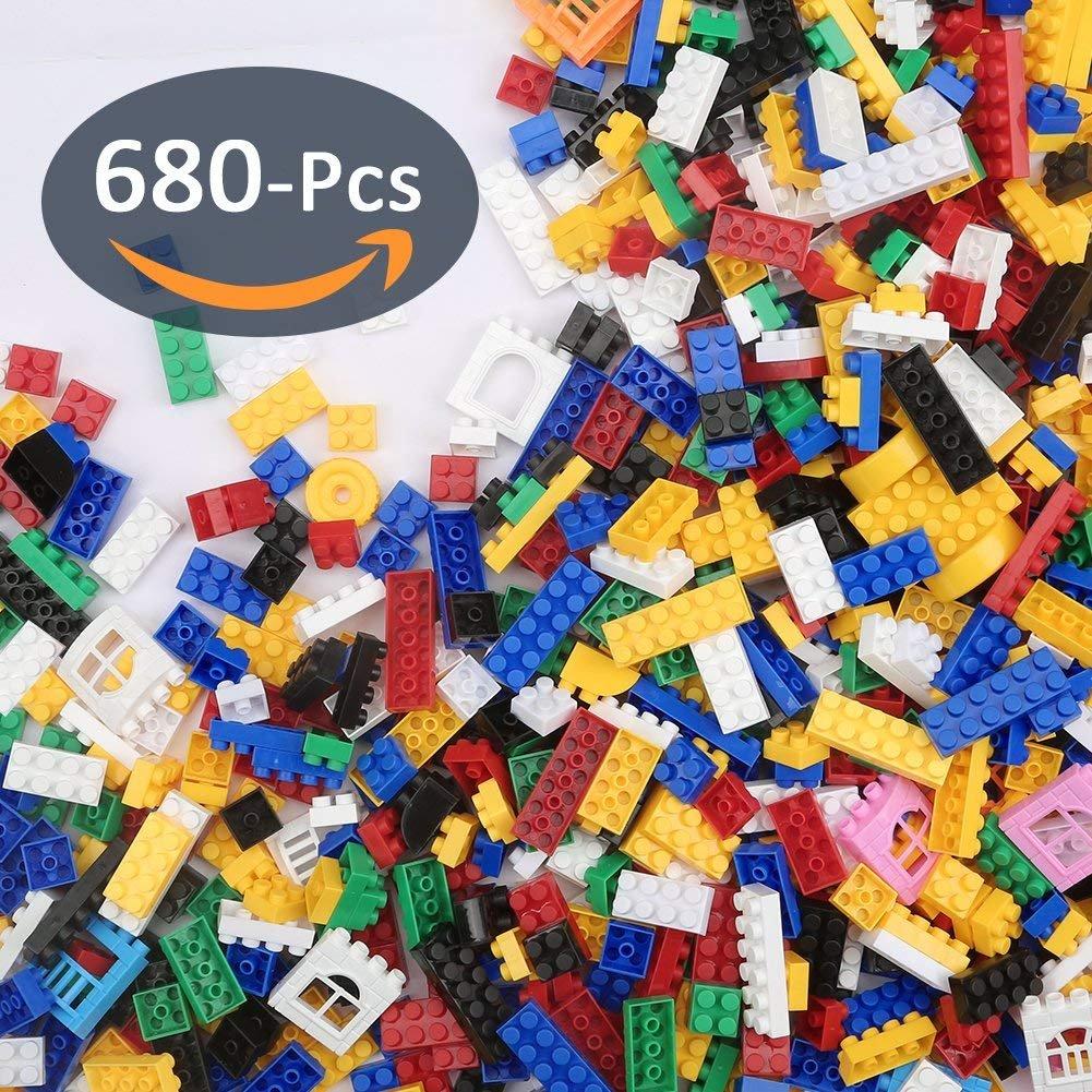 Toyk  Building Blocks Toys Bulk Bricks(680 pcs) Kids Classic Creative Learning Construction Engineering Kits for Boys and Girls
