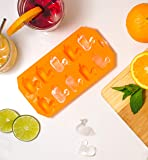 HIC Silicone Ice Cube, Chocolate, Candy, Baking and Craft Mold, Non-Stick Heat-Resistant Fun Novelty Shapes, Duck