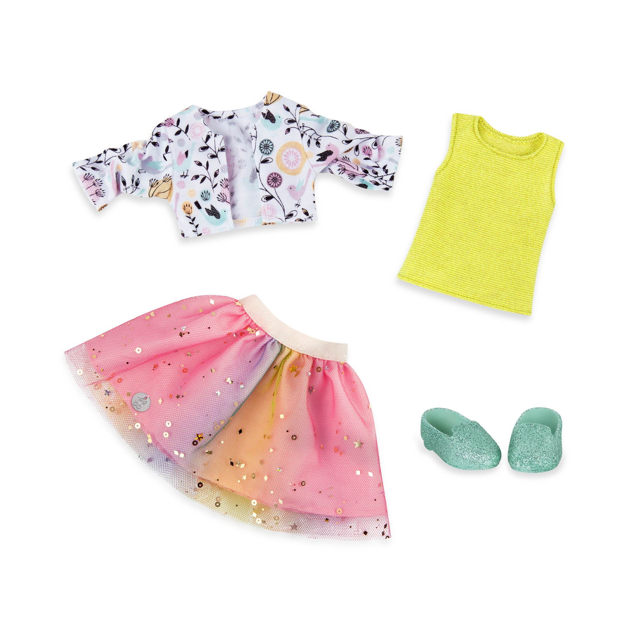 Glitter Girls by Battat - Shimmer Glimmer Urban Top & Tutu Regular Outfit - 14