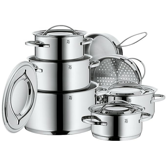 WMF Gala Plus Batería de Cocina (7 Piezas), Acero Inoxidable ...